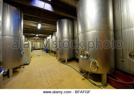Kovacs wine cellars' wine barrels ( Kovacs Borhaz ) Hajos ( Hajos); Hungary; - Stock Photo