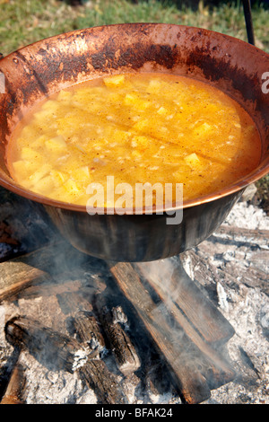 Food being prepared at the Paprika food festival. Hungary - Stock Photo