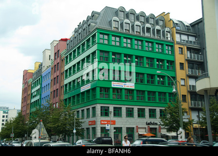 New building construction on Oberwallstrasse in previous East Berlin, Germany - Stock Photo