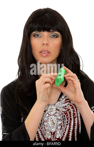 fortune teller with voodoo doll - Stock Photo
