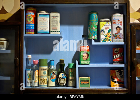 Antique Medicine Cabinet And Selective Bathroom Items Relative To The 1950u0027s  And 1960u0027s Era   Stock