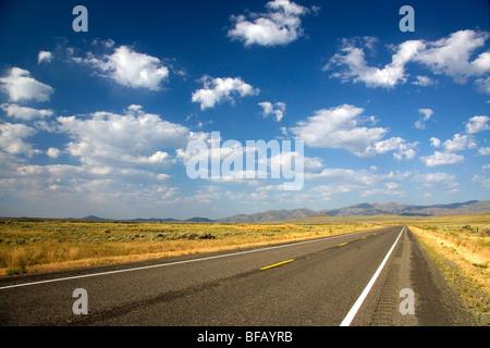 US Highway 20 near Arco, Idaho, USA.