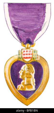 Purple Heart - Stock Photo