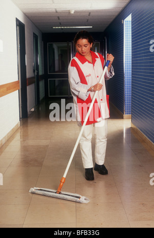 Hospital cleaning mrsa bacteria bacterial infections risk risks , One person only - SerieCVS100023159 - Stock Photo