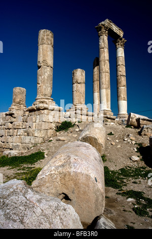 Temple of Hercules, Citadel Hill, Amman, Jordan - Stock Photo
