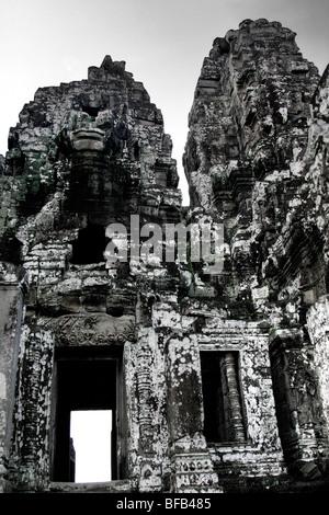 The Bayon temple at Angkor Wat, Siem Reap, Cambodia - Stock Photo