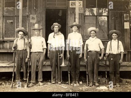 Six Man Hunting Club Band Stock Photo