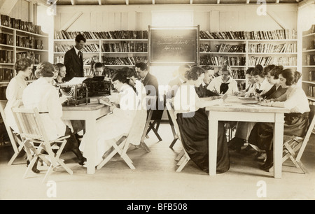Students Studying at Mont Alto Business College - Stock Photo