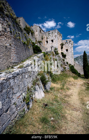 Klis Fortress, 9km from Split, Central Dalmatia, Croatia - Stock Photo