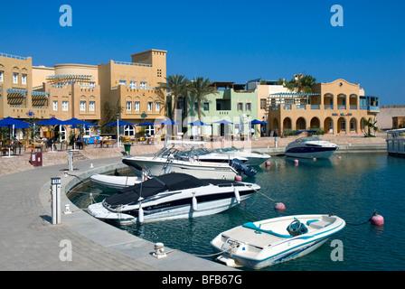 Boats in Abu Tig Marina, El Gouna, Red Sea, Egypt, North Africa - Stock Photo
