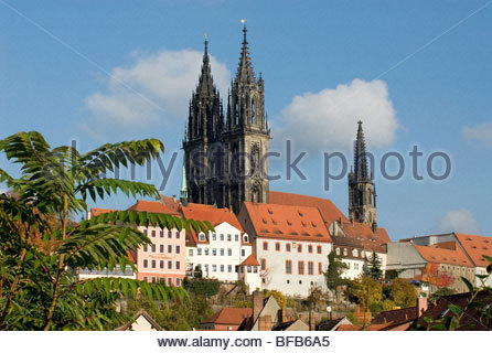 The Meissen Cathedral in Saxony near Dresden, Germany. - Stock Photo