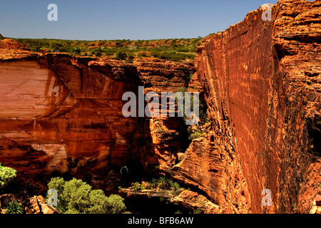 View into Kings Canyon from the rim walk, Northern Territory, Australia - Stock Photo
