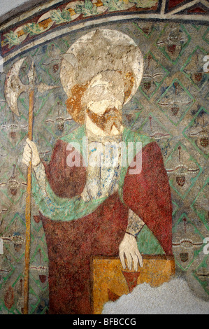 Gothic Paintings In The Church Of Siklos Castle Siklosi Var Near Villany Hungary