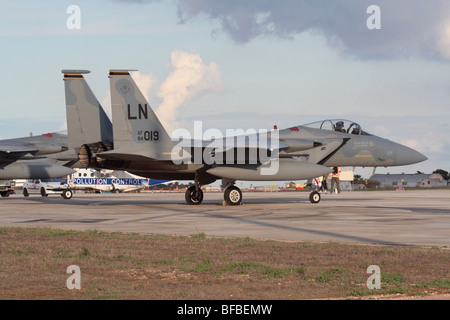 US Air Force F-15C Eagle jet fighter - Stock Photo
