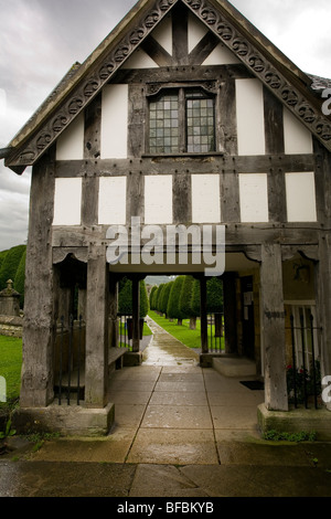 Lychgate St Mary's Church Painswick - Stock Photo