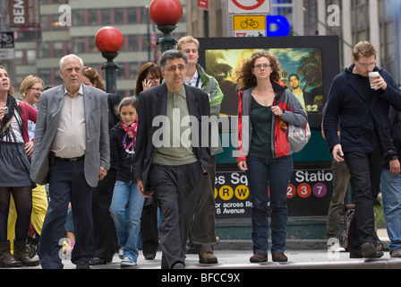 Times Square, 42nd Street, New York City - Stock Photo