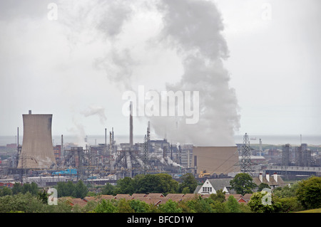 Teesside power station at 1875 Megawatts (MW), its the largest Combined Cycle Gas Turbine (CCGT) power plant in - Stock Photo