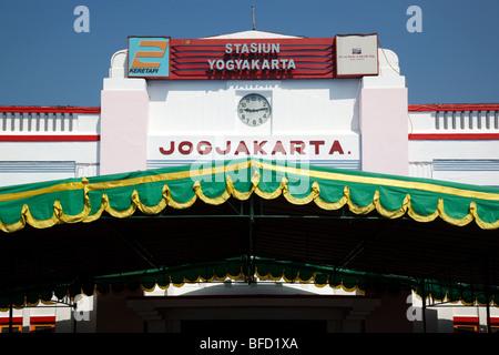the train station building in Yogyakarta, Indonesia - Stock Photo