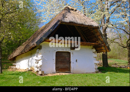 Old Wine cellars at Cak, near Velem, Hungary - Stock Photo