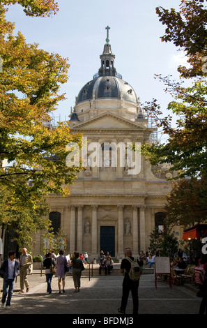 The Sorbonne located in Paris, France. - Stock Photo