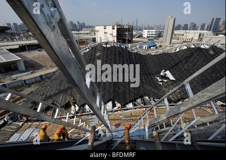 Construction site of the World Expo 2010 in Shanghai, China.15-Oct-2009 - Stock Photo