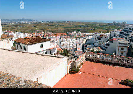 Salobrena is a town on the Costa Tropical with a long history dating from the 11th century. There is a hilltop Moor - Stock Photo