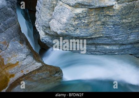Mistaya River in the Mistaya River Canyon, Banff National Park, Alberta, Canada - Stock Photo