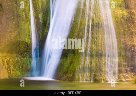 Lower Calf Creek Falls, Grand Staircase-Escalante National Monument, Utah - Stock Photo