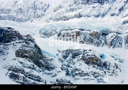 Crowfoot Glacier, Icefields Parkway, Banff National Park, Alberta, Canada - Stock Photo