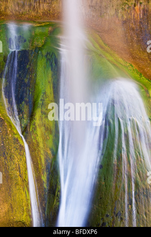 Lower Calf Creek Falls, Grand Staircase-Escalante National Monument, Utah - Stock Photo