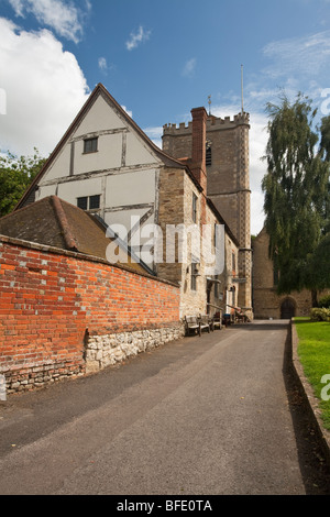 Dorchester Abbey and Museum, Dorchester on Thames, Oxfordshire, Uk - Stock Photo