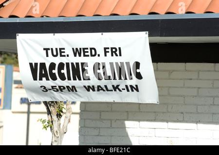 Vaccination Vaccine injections Swine Flu, Seasonal flu, virus - Stock Photo