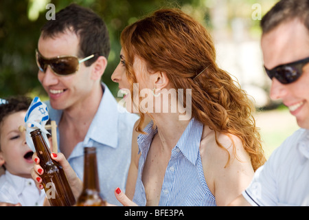 A family barbecue, Independence Day. - Stock Photo