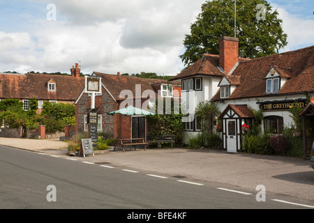 The Greyhound Pub in Whitchurch on Thames, Berkshire, Uk - Stock Photo