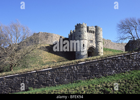 Carisbrooke Castle near Newport, Isle of Wight england UK GB - Stock Photo
