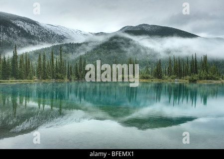 Forget-Me-Not Pond, Elbow Valley, Kananaskis Country, Alberta, Canada - Stock Photo