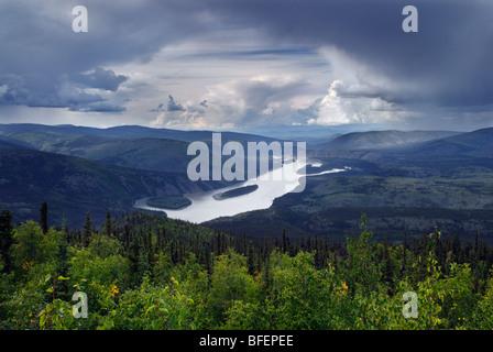 Klondike River, Dawson City, Yukon Territory, Canada - Stock Photo