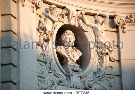 Sculpture from the Baroque Theatre, Hungary Kecskemét - Stock Photo