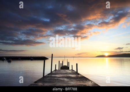 sunrise over Rhos on Sea, Llandrillo, Conwy, Wales, UK - Stock Photo