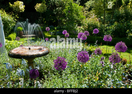 An English country garden - Stock Photo