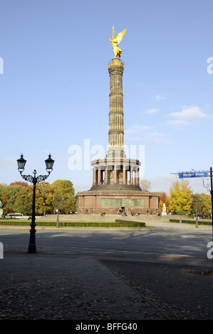 Berlin Victory Column, to commemorate the Prussian victory in the Danish-Prussian War, Berlin, Germany. - Stock Photo