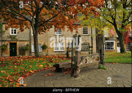 Stocks at Stow-on-the-Wold, Cotswolds, England, UK - Stock Photo