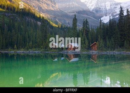 Lake O'Hara Lodge cabins, Yoho National Park, British Columbia, Canada - Stock Photo