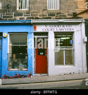 V. Good & Co Court Criminal Defence Lawyers shop in Candlemaker Row, Edinburgh Scotland UK - Stock Photo