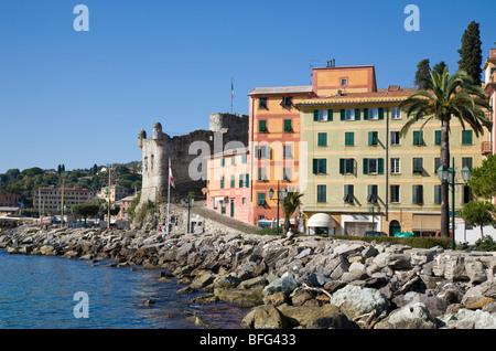 Trompe l'oeil Santa Margherita Ligure, Liguria, Italy - Stock Photo