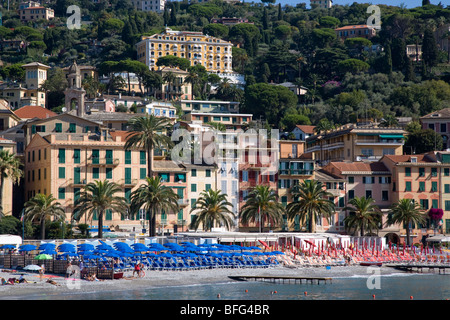 Water front of Santa margherita ligure, Italy - Stock Photo