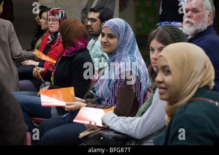 Muslim Center of New York during the Queens Interfaith Unity Walk in Flushing, Queens - Stock Photo