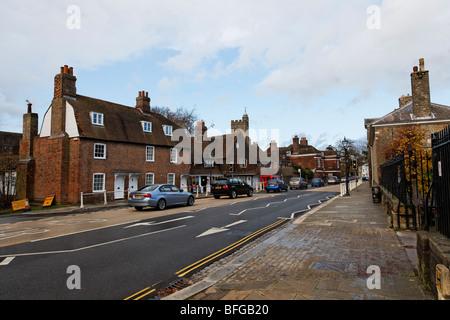Architecture in Sevenoaks High Street. - Stock Photo