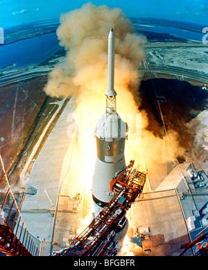 Apollo 11 Launch, Saturn V rocket - Stock Photo