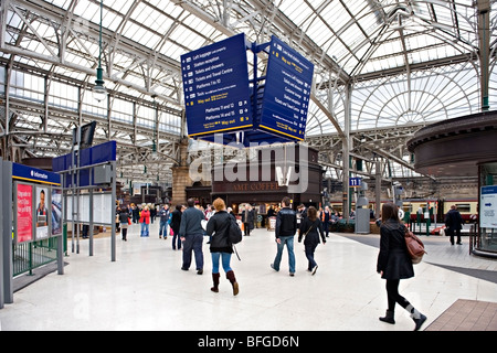 Glasgow Central Railway Station, Scotland, UK. - Stock Photo
